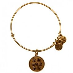 It Is What It Is Charm Bracelet | Alex and Ani  Sometimes life hands you the unexpected. Embrace these twists and turns as a divine blueprint that will lead you to your destined path and remember to appreciate the journey. Life is unpredictable. Life is an adventure. Life is a blessing. It is what it is and what you make it to be.