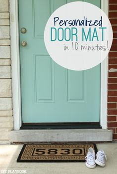 A personalized doormat tutorial that literally takes ten minutes to recreate. From the DIY Playbook.