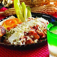 Enchiladas placeras. Michoacán