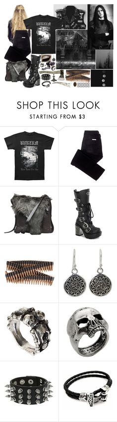 """Varg Vikernes, Burzum"" by jeanettebeatrice ❤ liked on Polyvore featuring sass & bide, Henry Beguelin, Demonia, Bullet, NOVICA, ASOS, John Richmond and Hot Topic"