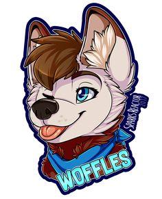 Woffles badge by SparksFur