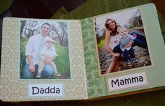 """""""My Family Book"""" - DIY Family Board Books for Babies and Toddlers - LaneKids Baby Family Pictures, Toddler Pictures, My Family Photo, Family Photo Album, Diy Picture Books, Baby Photo Books, Diy Family Album, Scrapbooks, Board Books For Babies"""