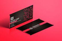 Hot Pink Business Card Design Pink Business Card Business Card Design Media Business Cards