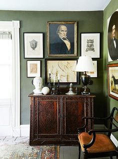 """The layers add a sense of plenty, and the overall effect is inviting and cozy. """"Each room is like a cabinet of curiosities,"""" he says. """"It diverts the eye with things to look at. Rather than overwhelm you, it makes the room seem larger."""""""