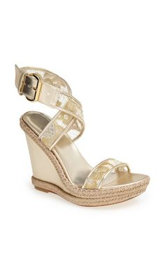 Stuart Weitzman 'Guipure' Wedge Sandal available at #Nordstrom
