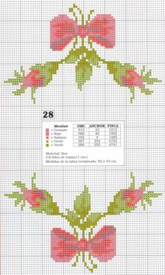This Pin was discovered by HUZ Mini Cross Stitch, Cross Stitch Rose, Cross Stitch Borders, Cross Stitch Flowers, Cross Stitch Charts, Cross Stitch Designs, Cross Stitching, Cross Stitch Embroidery, Cross Stitch Patterns