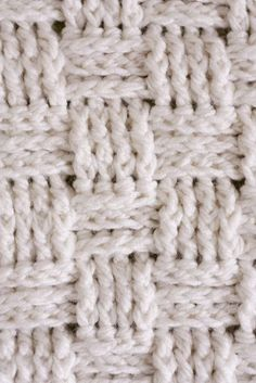 Crochet a baby blanket using a basket weave stitch and chunky yarn. It works up SO fast and it's beautiful!