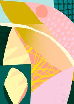 'Bittersweet' www.tomabbisssmithart.com #contemporary #abstract #textiledesign #collage #surfacepattern #design