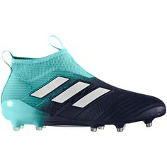 buy popular 61d08 36803 Adidas Soccer Cleats Adidas ACE 17+ Purecontrol FG Soccer Cleats Energy  Aqua-White