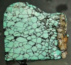 spider web turquoise rough