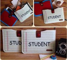' student ' el yapımı keçe mini iPad kılıfı & El çantası & cüzdan vs.