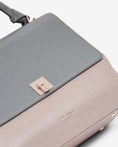 Leather large tote bag - Gunmetal | Bags | Ted Baker