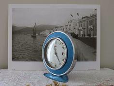1950' lerden HERO marka, tamburlu, kurmalı eski nostaljik çalar saat