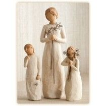 Willow Tree Figurine Mother with two Daughters