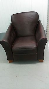 MARKS-AND-SPENCER-ABBEY-BROWN-LEATHER-RECLINING-CHAIR-ARMCHAIR-M-S-RECLINER