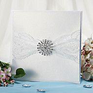 Wrap & Pocket Wedding Invitation With Lace Ribbon... – AUD $ 48.59