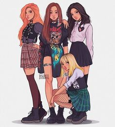 Oh my gosh, this is such a good drawing of Blackpink.