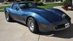 Dark Blue 1980 Corvette just like the one I had in college