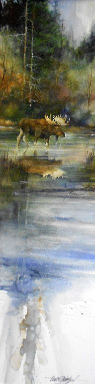 Lance Johnson Paintings For the guys Art Watercolor, Watercolor Animals, Watercolor Landscape, Landscape Art, Landscape Paintings, Wildlife Art, Animal Paintings, Beautiful Paintings, Amazing Art