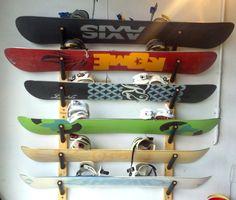 #snowboard wall storage rack