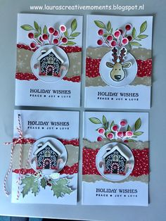 Holiday Wishes, Candy Cane Lane DSP, Stampin' Up! (Christmas card idea)