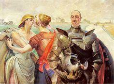 Jacek Malczewski - Hercules at the crossroads (Portrait of Alexander Wielopolski)