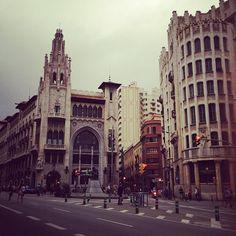 Via Laietana in Barcelona, Cataluña