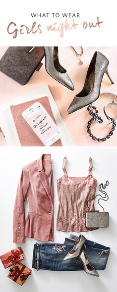 Girls' Night Out is always the most anticipated, fun evening on your social ca. Holiday Outfits, Fall Outfits, Casual Outfits, Cute Outfits, Night Outfits, Summer Outfits, Sequin Jeans, Girls Night Out, Swagg