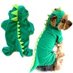 Encontrar Más Sudaderas para perro Información acerca de Hot Pet Puppy Dog pijamas ropa Dress Up Hoodie Jumpsuit abrigo del traje, alta calidad ropa para mascotas, China ropa de las mujeres Proveedores, barato ropa tenedor de DIVINE en Aliexpress.com