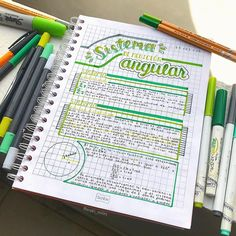back to school apuntes on In - backtoschool Bullet Journal School, Bullet Journal Notes, Bullet Journal Ideas Pages, Bullet Journal Inspiration, Cute Notes, Pretty Notes, Good Notes, College Notes, Study Organization