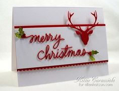 October 22, 2014 Clean and Simple Holiday Card by Kittie Caracciolo: KC Ellens Essentials Merry and Bright