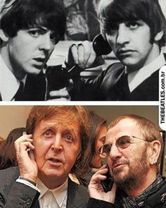 Paul and Ringo then and now | Música | Pinterest | Then And Now, Ringo Starr and Paul Mccartney