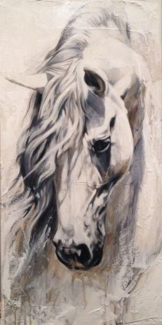 Classical oil painting beautiful strong animals red horse in stable no framed