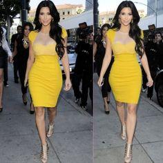 Mesh See-Through Slim OL Dress
