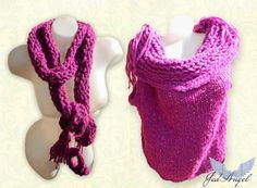 Knitted Set Women Autumn-Winter Vest and ScarfBohemian by JadAngel
