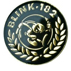 Blink-182 Pin ($4) ❤ liked on Polyvore featuring jewelry, brooches, pins, pin jewelry, enamel jewelry, pin brooch, black gold jewelry and enamel brooches