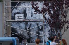 """El Muro de Pedro Sega en el Proyecto """"Muros"""".#ArteTabacalera Promoción del Arte #ArteUrbano #StreetArt Madrid Día 5 #Arterecord 2014 https://twitter.com/arterecord"""