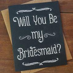 Will You Be My Bridesmaid Card Bridesmaid Card by PheasantPress