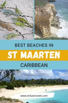 Traveling to St Maarten/St Martin Island? St Maarten has some of the best beaches in the Caribbean! Discover the white sands of Mullet Beach, Maho Beach, Cupecoy and more! Saint Martin Island, Secluded Beach, Most Beautiful Beaches, Sea And Ocean, Island Life, Beautiful Islands, Sands, Caribbean, Tourism