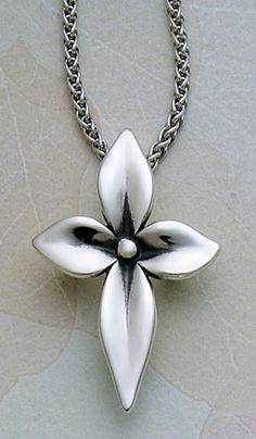 Blossom Cross from James Avery Jewelry Polymer Clay Pendant, Polymer Clay Jewelry, Clay Earrings, Metal Clay Jewelry, Pendant Jewelry, Clay Cross, Precious Metal Clay, Christian Jewelry, Cross Jewelry