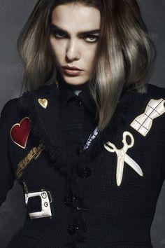 Rokk Ebony - Off the Wall #rokkebony #fashion #hairstyle #trends #тренды #мода #стиль #прическа #волосы  Hair By: Rokk Ebony Creative Team Salon: Rokk Ebony Photographer: Elizabeth Kinnaird Stylist: Melissa Nixon Make Up: Sarah Baxter