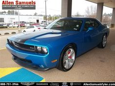 Who can believe this sweet Blue Pearlcoat '09 Dodge Challenger SRT8 with the black interior