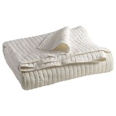 Ivory Avery Pick-Stitch Quilt - King