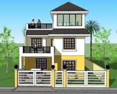 Signed and Sealed House Plan for New House Construction, Building Permit or Housing Loan Requirement 3 Storey House Design, Simple House Design, Bungalow House Design, Modern House Design, Flat Roof House Designs, Cool House Designs, House Deck, House Roof, New House Construction