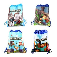 ZUOLA Minecraft Backpacks Kids School Bags Outdoor Home Toy Organizer Party… 05d84dacdb01b