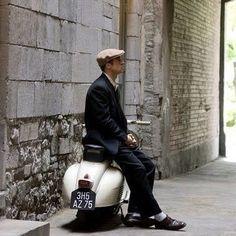 Brad Pitt looking very classy with his vespa!  #gentlemen #gentleman #quality #style #fashion #stylish #mensfashion #leather #mensstyle #swag #swagger #shopping #menswear #menstyle #menfashion #mens #menwithstyle #menwithclass #menstyleguide #leathergoods #leathercase #leatherwallet #gentlemenstyle #gentlemenfashion #ipad #bradpit #Vespa #motorbike