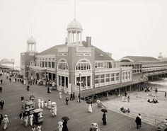 Steel Pier, Atlantic City, N.J. photographed by the Detroit Publishing Compnay, on 8x10 glass plate negative.