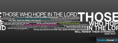 Those Who Hope In The Lord Timeline Cover 850x315 Facebook Covers - Timeline Cover HD