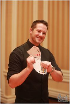 Strolling Magic!  Sight & Sound Events magician is the perfect way to keep your guests entertained while you are taking photos.