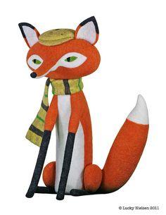 #Needle #felt #fox #Gallery360 Liam Foxwell
